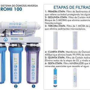 Etapas de Filtrado HIDROLIT ROMi 100