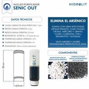 Purificador de agua elimina Arsenico Cloro Metales Pesados SENIC OUT Hidrolit