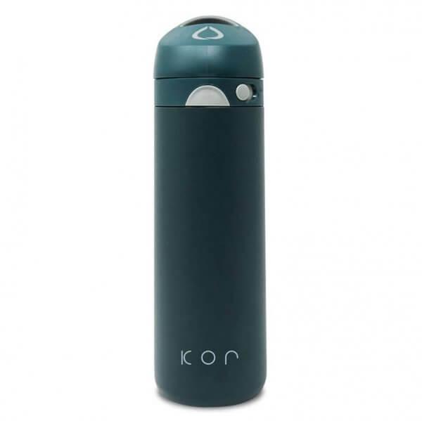 Botella para agua fría y caliente Hidrolit Kor Devi color Caribbean Green - Frontal - Frontal