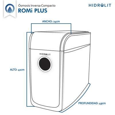 Purificador de agua Osmosis Inversa Romi Plus Hidrolit elimina hasta un 99,99% de los contaminantes